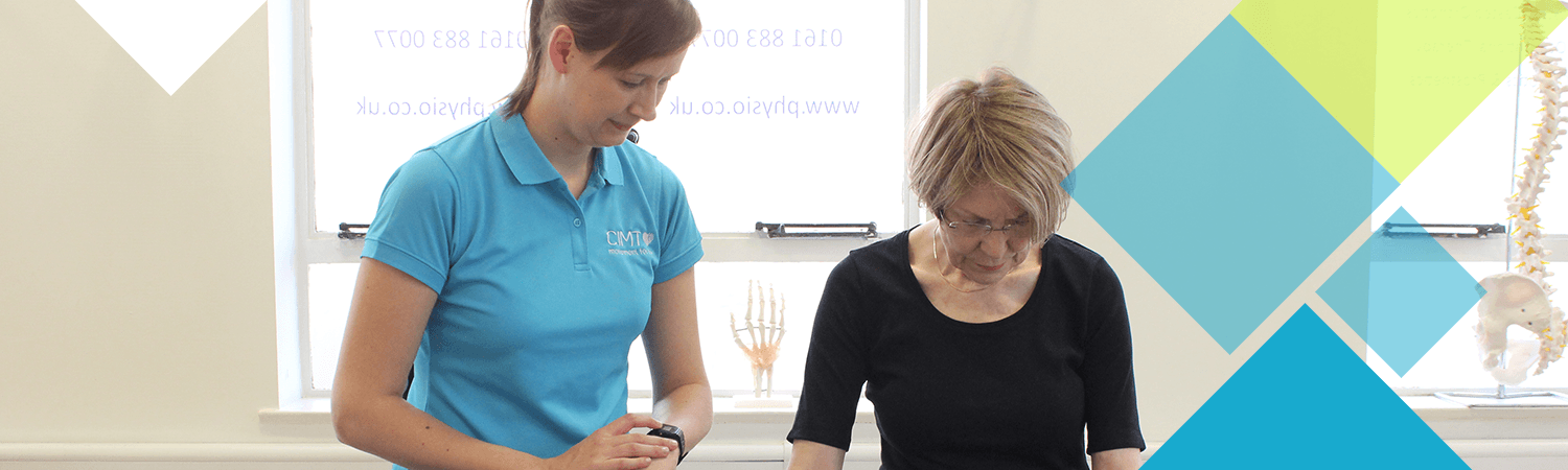 CIMT physiotherapist and patient work together on problem